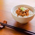夜はひきわり納豆を食べることにしました。